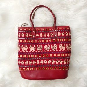 Boho Ethnic Embroidered Hippie Bucket Bag Purse